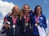 Alexa Porpaczy on podium gold in high jump
