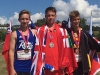 Harrison Trustham on podium silver in 200m Hurdles