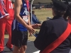 Harrison Trustham receiving medal