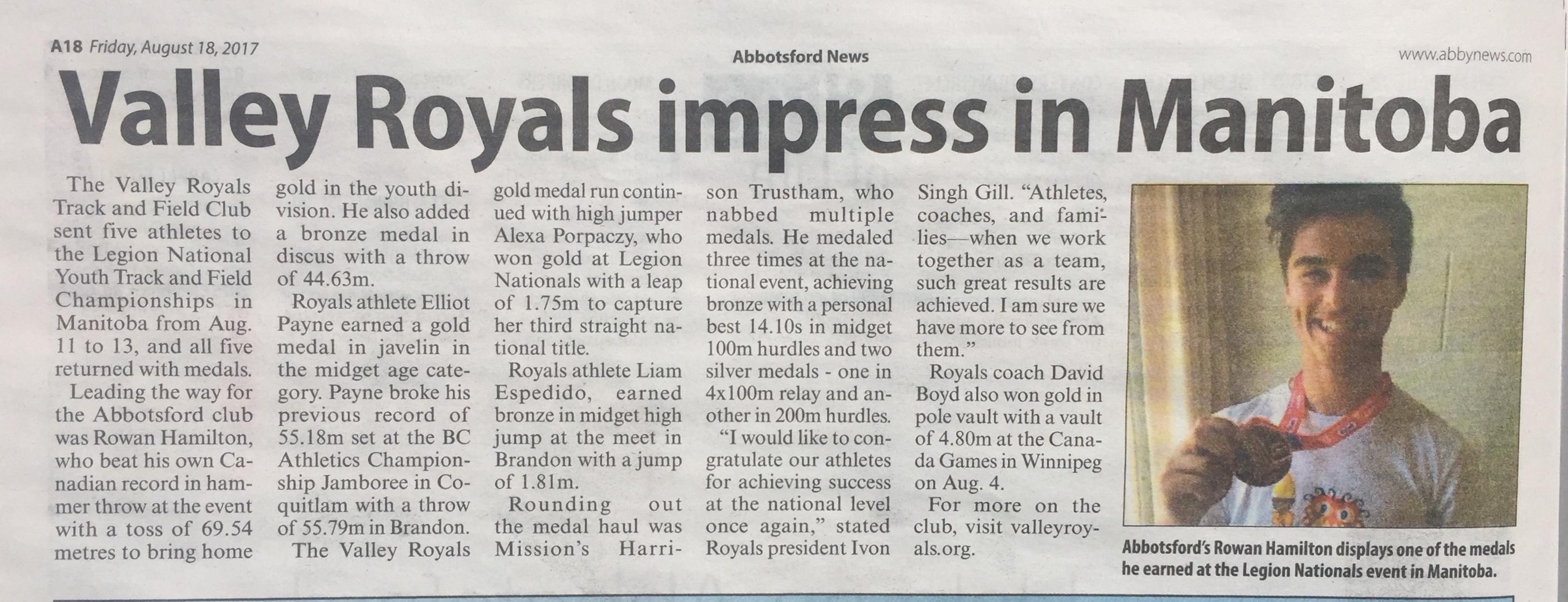 Valley Royals Perfect at Nationals! – Valley Royals Track