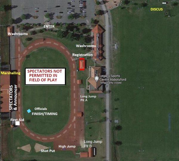 Valley Royals Meet Map July 17, 2021